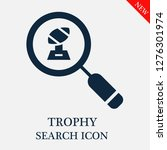 trophy search icon. editable...