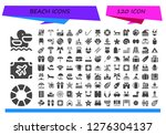 beach icon set. 120 filled... | Shutterstock .eps vector #1276304137