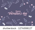 vector illustration of flowers... | Shutterstock .eps vector #1276308127