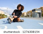 young smiling black girl... | Shutterstock . vector #1276308154