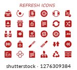 refresh icon set. 30 filled... | Shutterstock .eps vector #1276309384