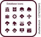 database icon set. 16 filled... | Shutterstock .eps vector #1276310641
