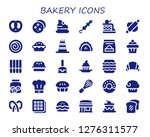 bakery icon set. 30 filled... | Shutterstock .eps vector #1276311577
