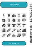 sausage icon set. 25 filled... | Shutterstock .eps vector #1276312864