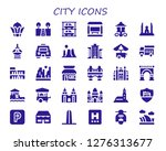 city icon set. 30 filled city... | Shutterstock .eps vector #1276313677