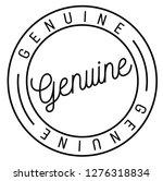 genuine stamp on white... | Shutterstock .eps vector #1276318834