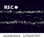 glitch old camera rec on black... | Shutterstock .eps vector #1276327357