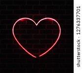 neon heart realistic vector... | Shutterstock .eps vector #1276337701