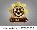 gold shiny badge with football ... | Shutterstock .eps vector #1276339357