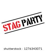 stag party black stamp  sticker ... | Shutterstock .eps vector #1276343071