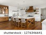 beautiful kitchen in new luxury ... | Shutterstock . vector #1276346641