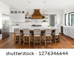 beautiful kitchen in new luxury ... | Shutterstock . vector #1276346644