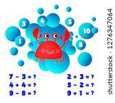 math educational game for...   Shutterstock .eps vector #1276347064