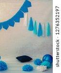 festive background decoration...   Shutterstock . vector #1276352197