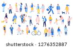 set of people in different... | Shutterstock .eps vector #1276352887