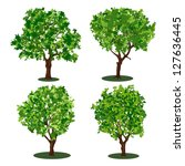 set of abstract trees. raster... | Shutterstock . vector #127636445