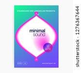 music fest. electronic sound.... | Shutterstock .eps vector #1276367644