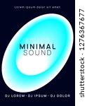 summer music. electronic sound. ... | Shutterstock .eps vector #1276367677
