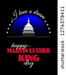 happy martin luther king day... | Shutterstock .eps vector #1276378411