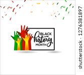 black history month vector... | Shutterstock .eps vector #1276381897