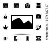 photo icon. simple glyph vector ...