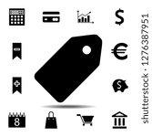 tag icon. simple glyph vector...