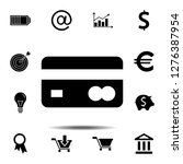 credit card icon. simple glyph...