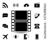 film strip icon. simple glyph...
