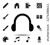 headphones symbol sign icon....
