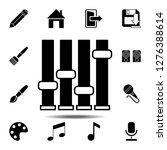 mixer icon. simple glyph vector ...