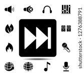 rewind button symbol sign icon. ...