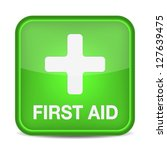 first aid medical button sign... | Shutterstock .eps vector #127639475