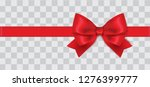 horizontal realistic red ribbon ... | Shutterstock .eps vector #1276399777