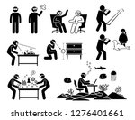 people using and wearing future ... | Shutterstock .eps vector #1276401661