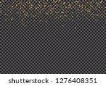 gold falling glitter particles... | Shutterstock .eps vector #1276408351