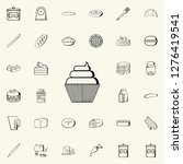 cup cake icon. bakery shop... | Shutterstock . vector #1276419541
