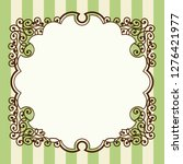 antique  barrack style frames ... | Shutterstock .eps vector #1276421977