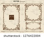 antique  barrack style frames ... | Shutterstock .eps vector #1276422004