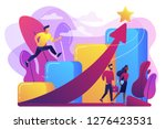 successful businessman running...   Shutterstock .eps vector #1276423531