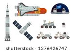 Set Of Space Equipment And...