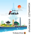 the beauty of korea. korean... | Shutterstock .eps vector #1276444954