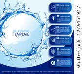 infographics business chart... | Shutterstock .eps vector #1276451917