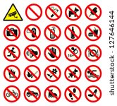 prohibited no stop sign. no...   Shutterstock .eps vector #127646144