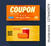 food and drink coupon ticket... | Shutterstock .eps vector #1276465474