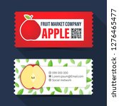 food and drink coupon ticket... | Shutterstock .eps vector #1276465477