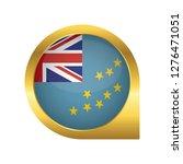 flag of tuvalu  location map... | Shutterstock .eps vector #1276471051