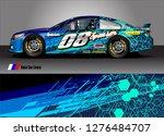 car decal vector design.... | Shutterstock .eps vector #1276484707