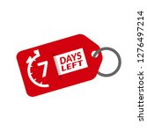 7 days left sign   emblem ... | Shutterstock .eps vector #1276497214