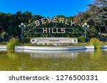 beverly hills sign in los... | Shutterstock . vector #1276500331