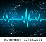 blue heart pulse monitor with...   Shutterstock .eps vector #1276512331